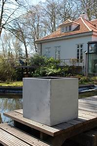 Pflanzkübel Beton Eckig : pflanzk bel blumenk bel block 50x50x50cm aus fiberglas beton design ~ Orissabook.com Haus und Dekorationen