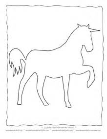 Unicorn Coloring Page Outline