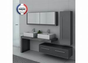 Meuble Salle De Bain Taupe : meuble de salle de bain gris taupe double vasque meuble ~ Dailycaller-alerts.com Idées de Décoration