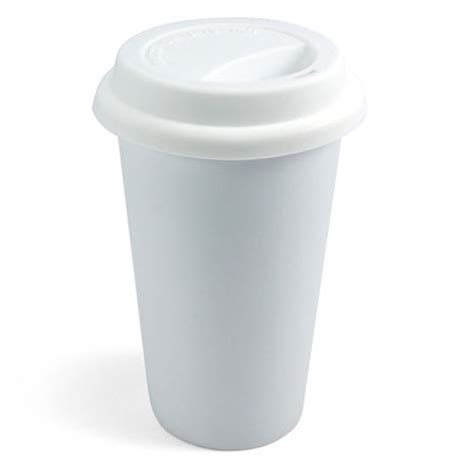 i am not a paper cup eco friendly reusable ceramic coffee cup the green head