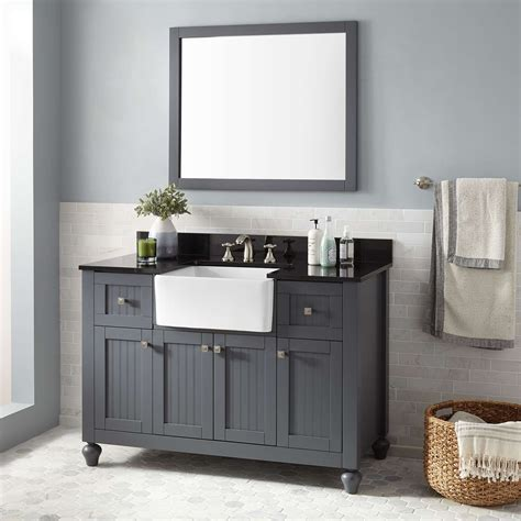 what is a bathroom vanity 48 quot nellie farmhouse sink vanity gray bathroom