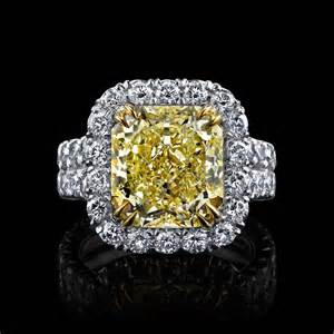 micro pave engagement ring internally flawless yellow radiant cutalexis house