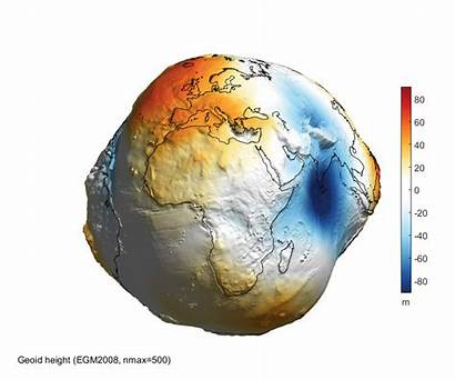 Earth Geoid 3d Water Globe Rotating Without