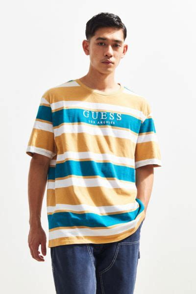guess peer stripe tee urban outfitters