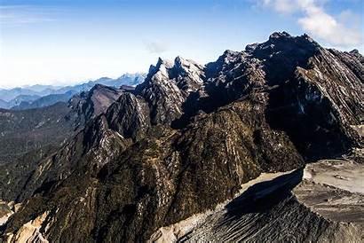 Mountains Range Maoke Snowy Peaks Jayawijaya Equator