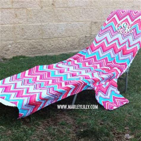 monogrammed lounge chair cover from marley lilly