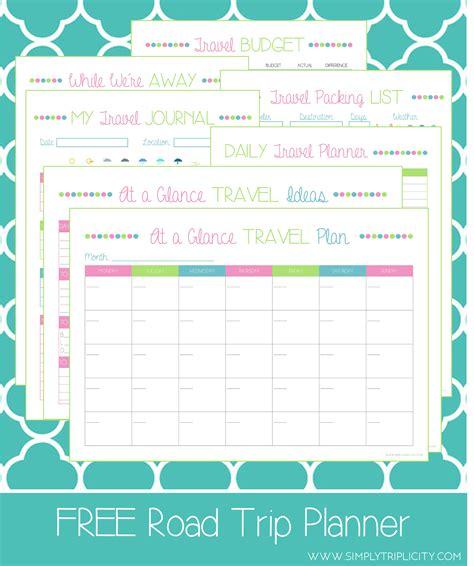trip planner template road trip planner simply triplicity