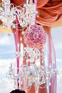 Wedding party supplies pink roses kissing ball and