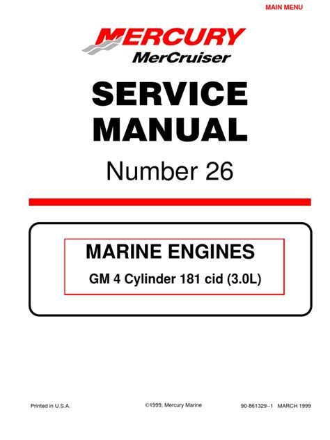 mercruiser  cyl  service manual gasoline internal