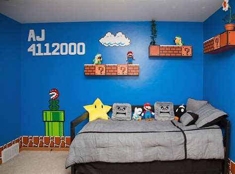 chambre mario bros cool parents awesome mario room for their