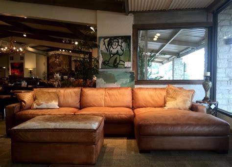rustic leather sofa  eleanor rigby austin tx houston
