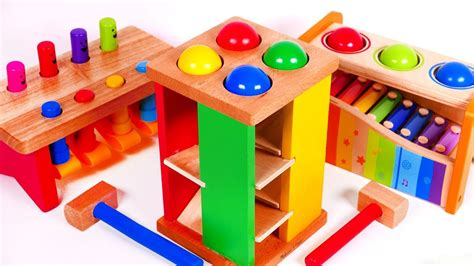 learning toys for kids learn colors with pounding tables