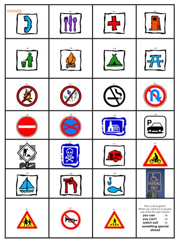 signs in the environment activities and by