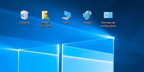 afficher icone bureau afficher ce pc panneau de configuration sur le bureau
