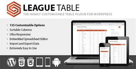 Download Codecanyon  League Table V202 Free Nulled