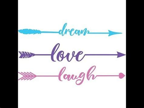 Please note that all arrows come in one zipped folder. Free SVG Word Arrows Love Laugh Dream | Arrow words ...