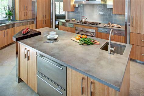 Modern Concrete Kitchen Countertops  Diy Concrete Kitchen