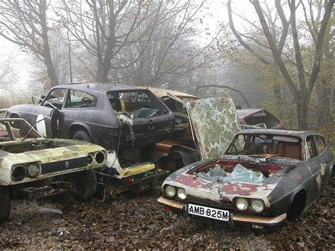 A Reliant Scimitar Graveyard In The Uk  Urban Ghosts Media