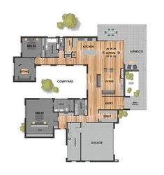 shaped house plans  courtyard houses  sha
