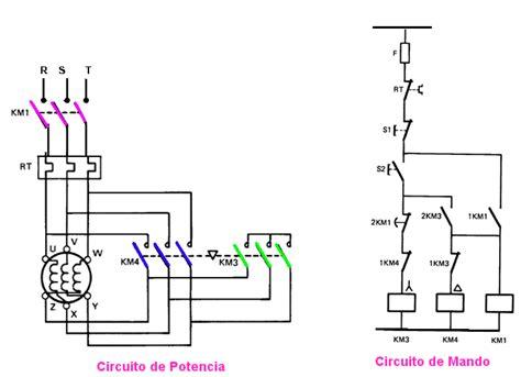 a pot 234 ncia do motor rotativo circuito de fuerza arranque estrella triangulo