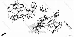 Honda Motorcycle 2018 Oem Parts Diagram For Side Cover