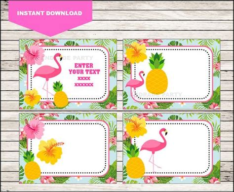 Flamingo School Label Name Label Name Tag Sticker Back