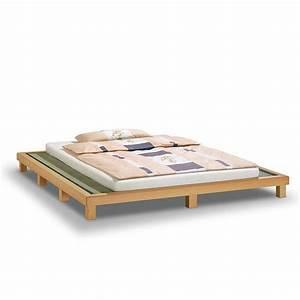Bett Auf Boden : so passen japanischer futon und europ ischer lattenrost zusammen ~ Markanthonyermac.com Haus und Dekorationen