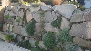 enrochement granit avec poche de plantation enrochement With ordinary amenagement jardin avec pierres 3 jardin comtemporain en alsace bergheim creation de massif