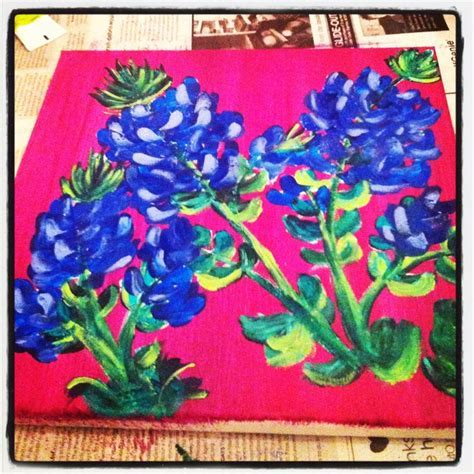Texas bluebonnet painting DIY   For the Home   Pinterest