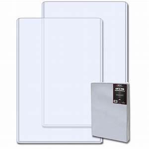 case 100 bcw 12x18 hard plastic topload photo print With document protectors hard plastic