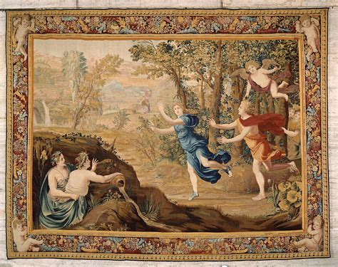 tapestry apollo pursuing daphne   series