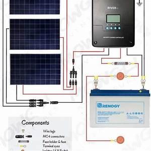 12v Solar Panel Wiring Diagrams For Rvs  Campers  Van U2019s