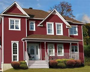 DaVinci Cabot Red Vinyl Siding Traditional Exterior
