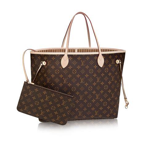 neverfull gm luxury louis vuitton monogram canvas handbag