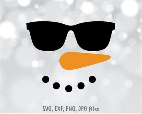Cute Snowman Faces Svg File Drone Fest