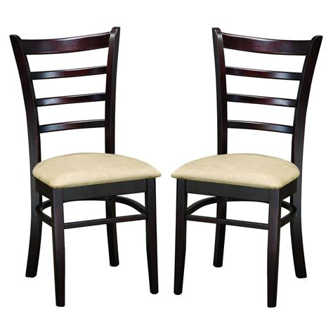 contemporary kitchen chairs keitaro brown modern dining chairs set of 2 free 2471