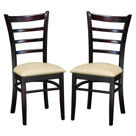 Keitaro Dark Brown Modern Dining Chairs (set Of 2)  Free