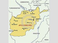Islamic Republic Of Afghanistan Map Vector Royalty