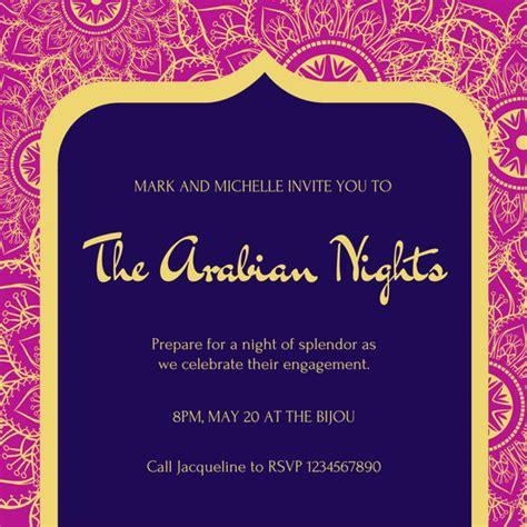 customize  arabian nights invitation templates
