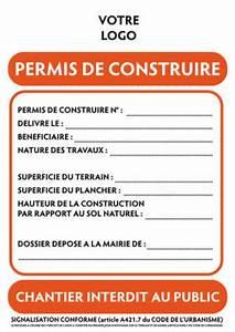 Panneau De Permis De Construire : modification des mentions port es sur les panneaux de ~ Dailycaller-alerts.com Idées de Décoration