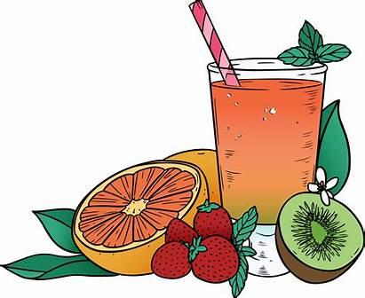 Juice Fruit Clipart Mixed Orange Cocktail Aguas