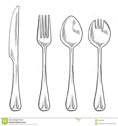utensils drawing royalty free stock image image
