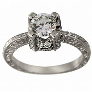 Vintage diamond engagement mounting diamond accented for Antique wedding rings pinterest