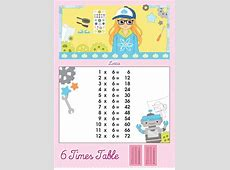 6 Times Table Printable Chart – Lottie Dolls