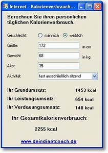 Kalorienverbrauch Berechnen : kalorienverbrauch pro tag ausrechnen software kostenlos ~ Themetempest.com Abrechnung
