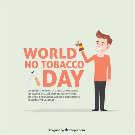 anti raucher farbe anti raucher tag hintergrund mit charakter der
