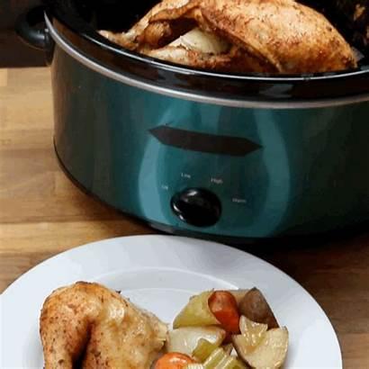 Chicken Pot Slow Crock Cooker Dinner Making