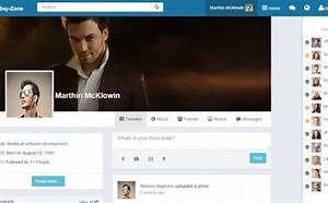 dayzone bootstrap social network html With social network profile template