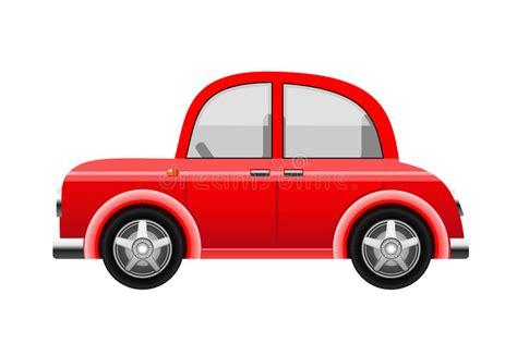 Rotes Auto, Vektor Vektor Abbildung Illustration Von