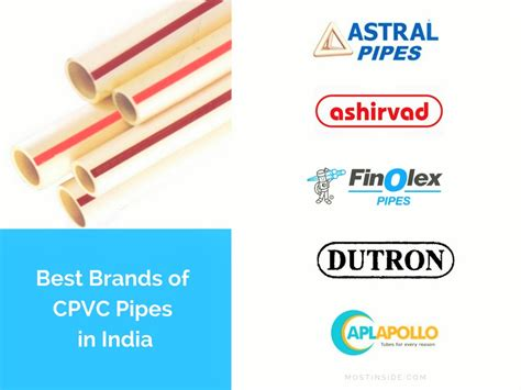 Best Brands Of Cpvc Pipes In India